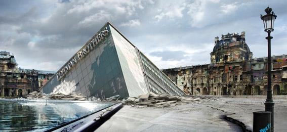 Reconstrucción París, 2010 Fotografía digital bajo metacrilato sobre PVC 103 x