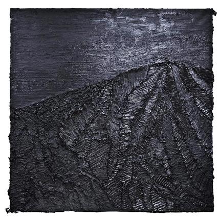 Teide negro, óleo sobre lienzo, 200 x 200 cm.
