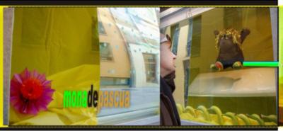 Mona de Pascua, instalación a través de la ventana/through the windows