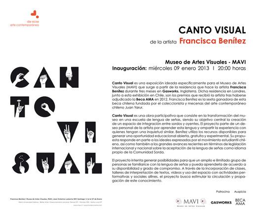 Francisca Benítez, Canto Visual