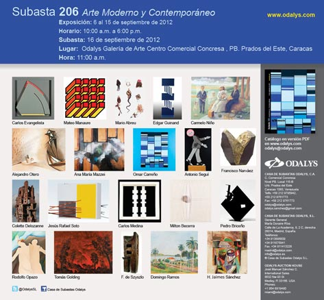 Subasta 206 - Arte Moderno y Contemporáneo