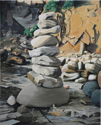 Castigo, 2012. Óleo sobre lienzo. 100 x 81 cm.