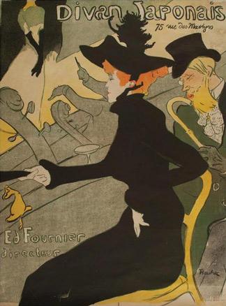 Henri de Toulouse Lautrec. Divan Japonais, 1893