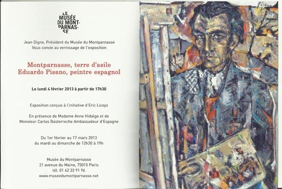 Eduardo Pisano, Montparnasse terre d´asile