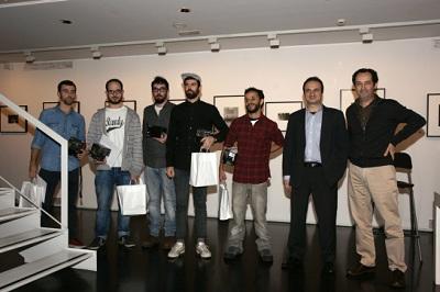 Los premiados junto a Alberto Sanz Sony y Pepe Font de Mora Foto Colectania