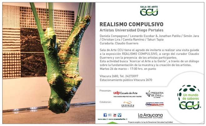 Invitación | Ir al evento: 'Realismo compulsivo'. Exposición en Sala de Arte CCU / Santiago, Region Metropolitana, Chile