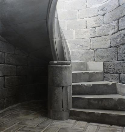 Javier Banegas, Torre -Escalera torre poniente-