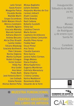 Muestra Fundacional del Centro Argentino del Libro de Artista