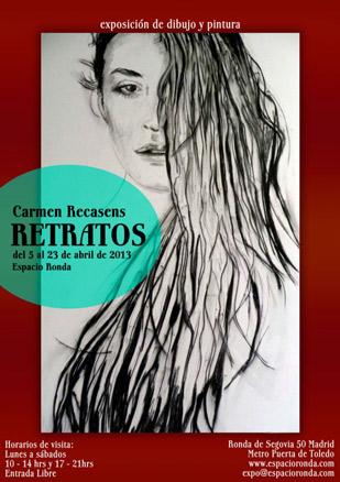 Carmen Recasens, Retratos