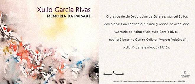 Xulio García Rivas, Memoria da paisaxe