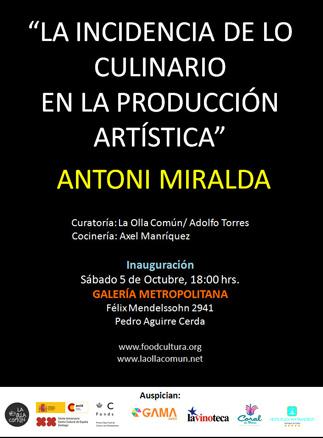 Antoni Miralda, La Incidencia de lo culinario en la producción artística