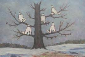 Dibujo de Sergei Pankeje_ del sueño de los lobos. Museuo Freud, Londres