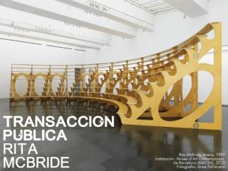 Rita McBride, Transacción Pública | Ir a la ficha del Artista 'Rita McBride'