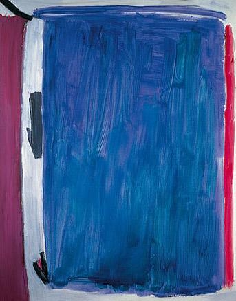 José Guerrero, Azul añil, 1989