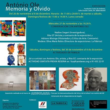 António Ole, Memoria y Olvido