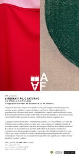 Pablo Langlois, Viridián y rojo saturno | Ir a la ficha del Artista 'Juan Pablo Langlois Vicuña'