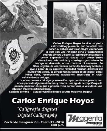 Carlos Enrique Hoyos, Caligrafía Digital
