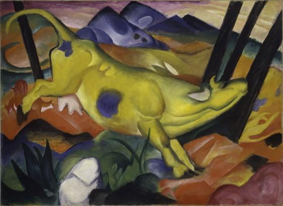 Franz Marc, Vaca amarilla -Gelbe Kuh-, 1911