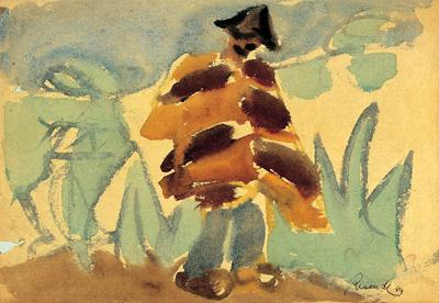 Júlio Resende, Homem da manta, 1949