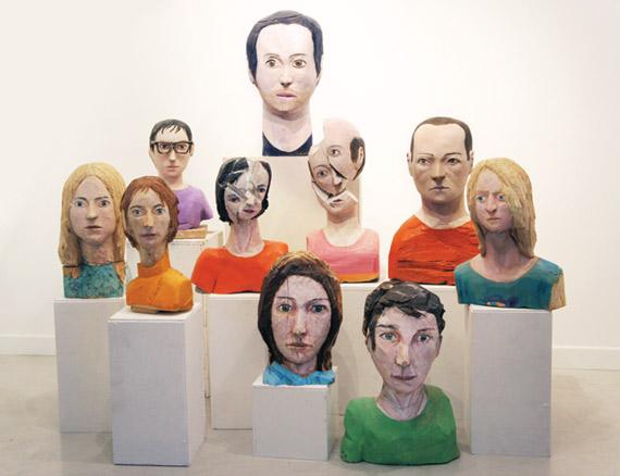 Ivan Cantos, Conjunto de esculturas de madera policromada, 2014