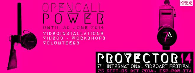 Proyector 2014. 7. Festival Internacional de Videoarte