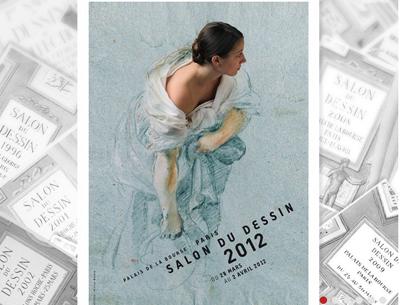 Cartel del Salon du Dessin, de París | México, Bruselas y Colonia, principales citas feriales de abril