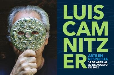 Cartel de Arte en Respuest. Luis Camnitzer | Museos de Chile, Quito, Puerto Rico y Ciudad de México saltan a escena