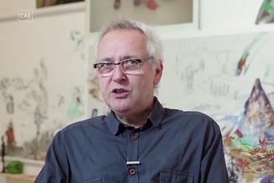 Gonzalo Puch en su última exposición en el CAB de Burgos