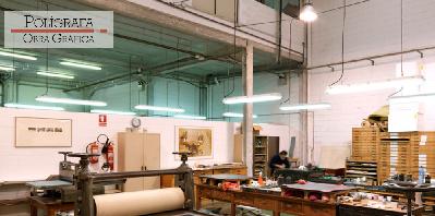 Vista del taller de Polígrafa Obra Gráfica en Barcelona | Polígrafa se presenta formalmente en Latinoamérica en Lucia de la Puente