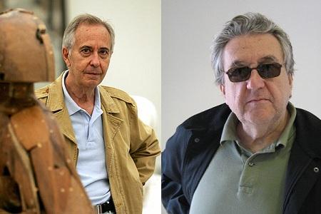 Manolo Valdés izqda. y Antoni Muntadas dcha. | Valdés expone en Nueva York mientras Muntadas llega a París