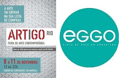 Logos de ArtigoRio y EGGO | El modelo de feria de bajo costo para coleccionistas principiantes llega a Latinoamérica