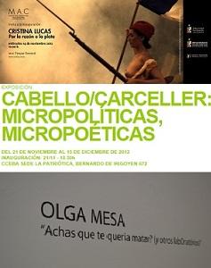 Exposiciones de Cristina Lucas, Cabello-Carceller y Olga Mesa | Cristina Lucas, Cabello/Carceller y Olga Mesa presentan proyectos en Latinoamérica y Portugal