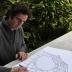 Juan Garaizabal trabajando en el proyecto Memoire dn jardín