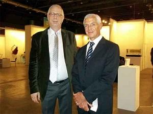 Marcelo Pacheco, izqda, con Eduardo Costantini. Foto de Manuel Alvarez | Marcelo Pacheco, último responsable de museo bonaerense en ser relevado