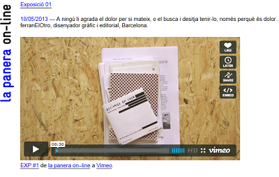 Pantallazo de site la panera on-line   La Panera difunde su fondo editorial con exposiciones on-line comisariadas