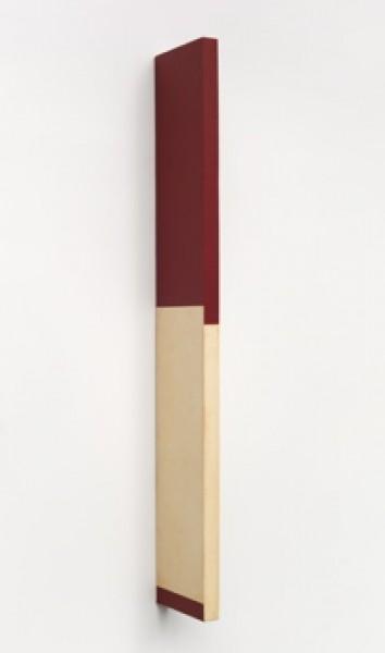 Willys de Castro, Objeto ativo, 1961, Canvas over wood, 70 x 11 x 2 cm