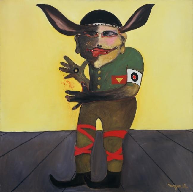 Maryan, Personnage, 1962. Oil on canvas, 127 by 127 cm. – Cortesía de Michel Soskine Inc. | Ir al evento: 'Maryan'. Exposición de Pintura en Michel Soskine Inc. / Madrid, España