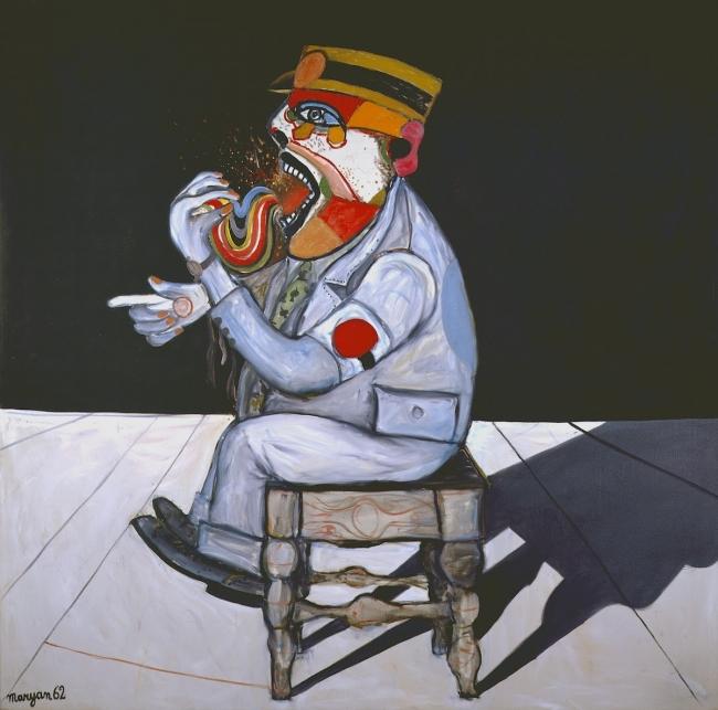 Maryan, Personnage, 1962. Óleo sobre tela 152 x 152 cm. – Cortesía de Michel Soskine Inc. | Ir al evento: 'Maryan'. Exposición de Pintura en Michel Soskine Inc. / Madrid, España
