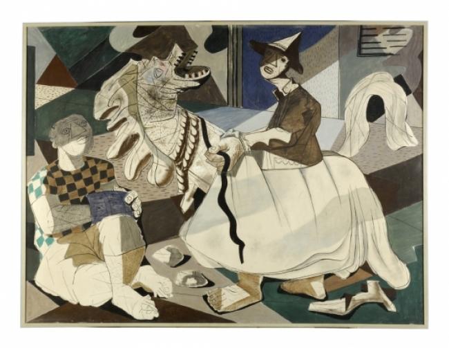 Cândido Portinari, Carnaval. Cavalo-marinho, 1942 Têmpera sobre tela MNSR. Inv. 987 – Cortesía del Museu Nacional de Arte Contemporãnea do Chiado