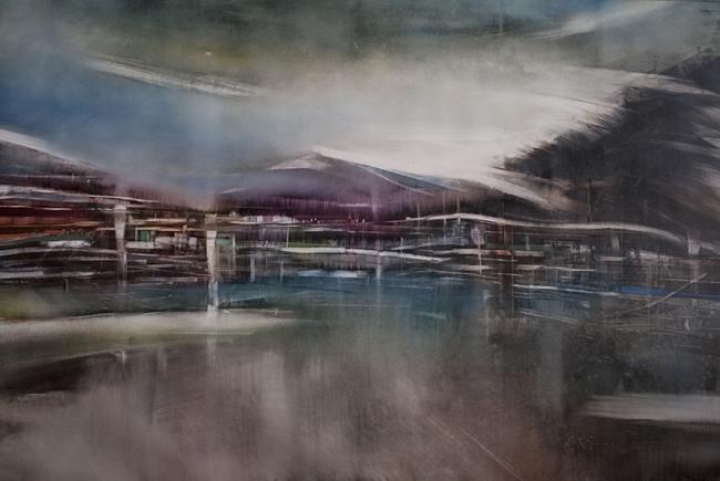 ROPBERTO BATISTA. Sin título, 2017. Óleo sobre lienzo, 92,5 x 141,5 cm