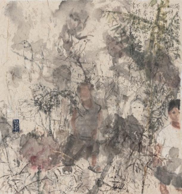 Serie de poesía de flores caídas No.11, 2017