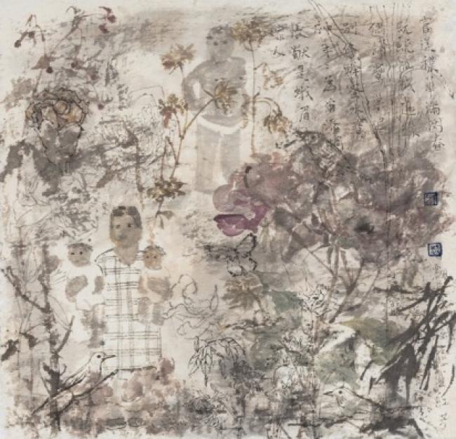 Serie de poesía de flores caídas No.12, 2017