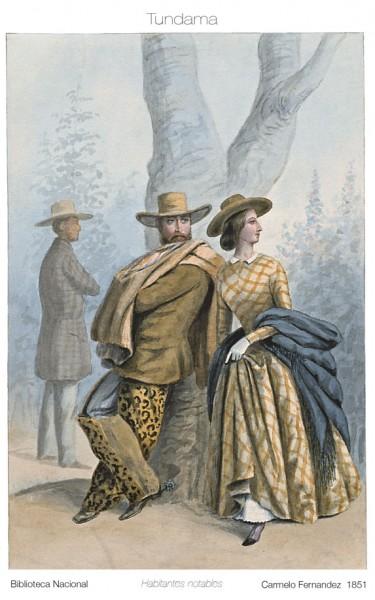 Carmelo Fernández, Habitants, notables, 1851