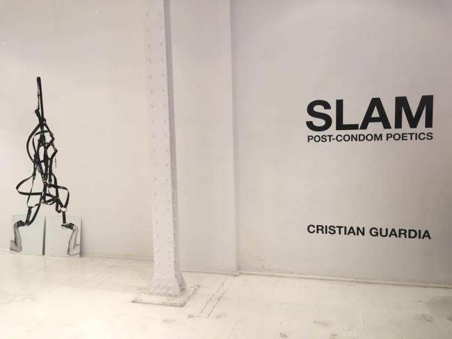 CRISTIAN GUARDIA | Ir al evento: 'Cristian Guardia. Slam Post-Condom Poetics'. Exposición de Arte en vivo, Arte urbano, Escultura, Fotografía, Videoperformance en A B I E R T O Theredoom / Madrid, España
