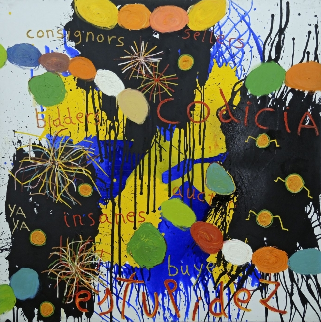 PAPARTUS, 2010. CODICIA. T. MIXTA ON CANVAS. 200x200 cm –