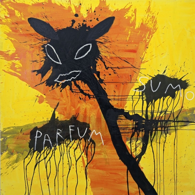 PAPARTUS, 2012. PARFUM. MIXTA ON CANVAS. 200x200 cm. –  – Cortesía Paco Celorrio