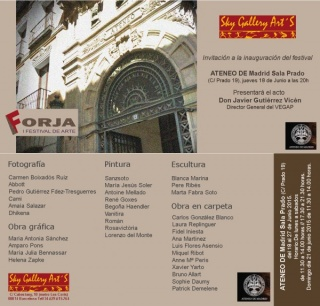 FORJA I FESTIVAL DE ARTE en EL ATENEO de Madrid
