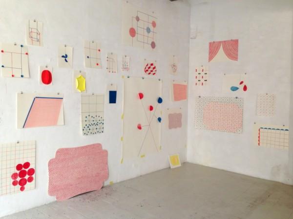 Sabine Finkenauer, taller. 2015. Instalación site-specific