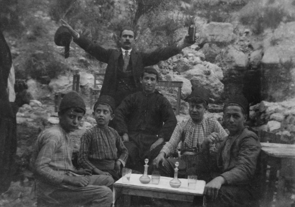 Untitled, Marie El Khazen, At Mar Sarkis, Ehden, Lebanon, 1920-1930. Gelatin silver negative on cellulose nitrate film, 6 x 8.6 cm. Mohsen Yammine Collection. Courtesy of the Arab Image Foundation, Beirut