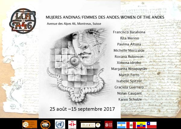 MUJERES ANDINAS AFICHE DE INVITACIÓN